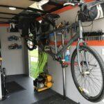 Bike hanging in trailer